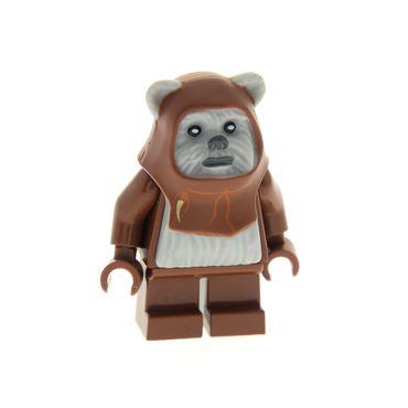 1 x Lego System Figur Star Wars Ewok  Chief Chirpa Torso neu-hell grau Episode 4/5/6 Set  10236 8038 973c47  64805pb01  sw236