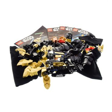 1 x Lego Bionicle Set Modell Technic für Buildable Figures Star Wars 75112 General Grievous 75117 Kylo Ren 75110 Luke Skywalker 3 Figuren mit Bauanleitung incomplete unvollständig