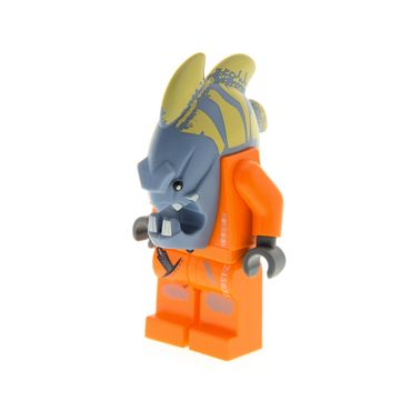 1 x Lego System Figur Space Police 3 Alien  Jawson Torso orange Monster Fisch  Gefangener 5985 5983 5984 973pb0752c01  sp113