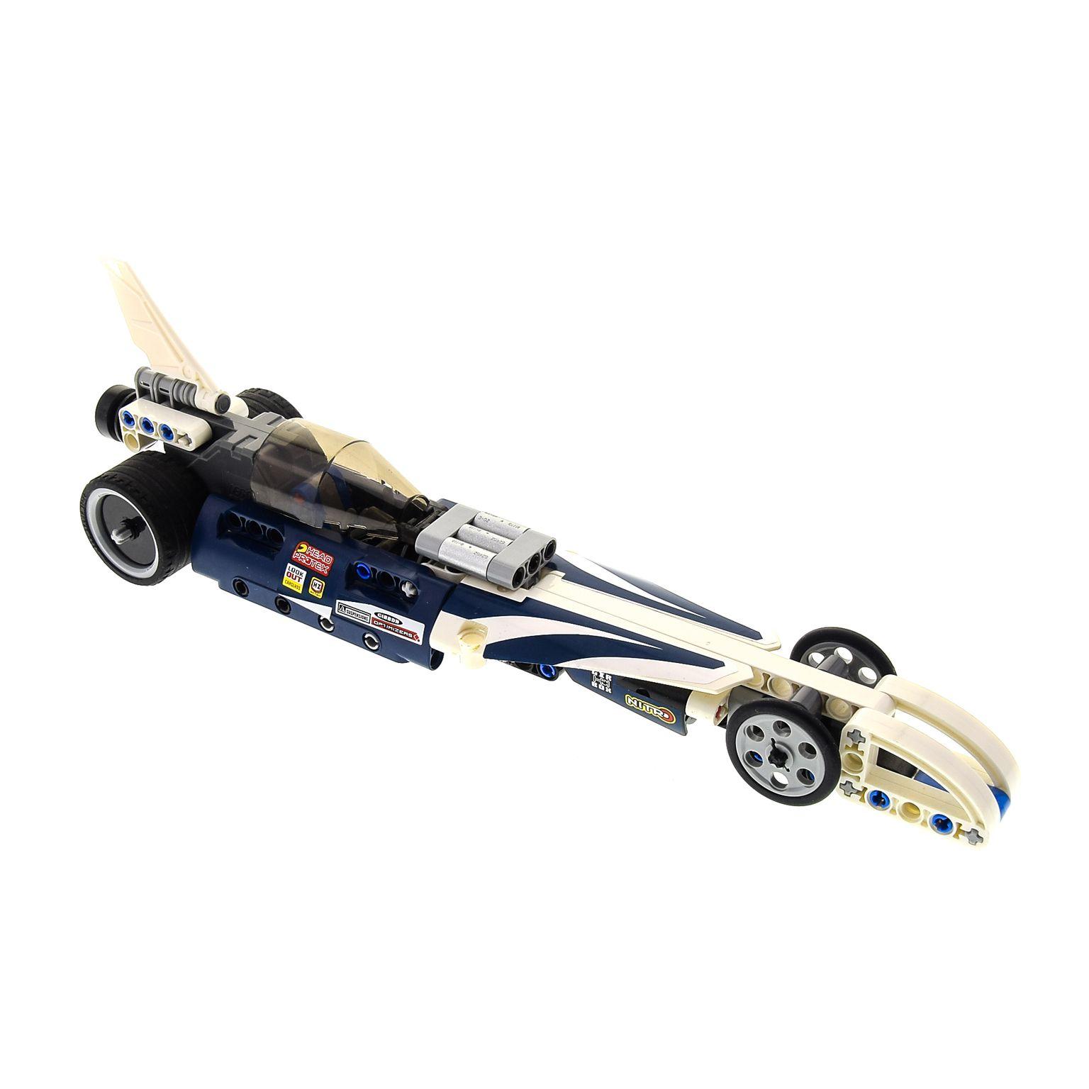1 X Lego Technic Set Modell 42033 Record Breaker Rennauto Weiss