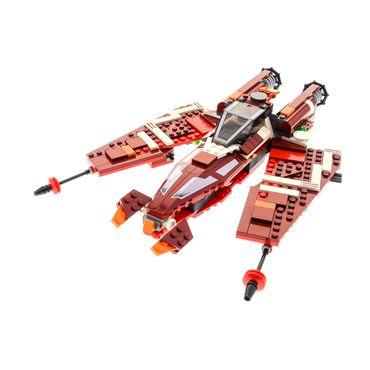 1 x Lego System Set Modell 9497 Star Wars Old Republic Striker-class Starfighter Raumschiff dunkel rot incomplete unvollständig