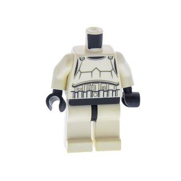 1 x Lego System Figur Torso Oberkörper Mann Star Wars Stormtrooper Torso weiss bedruckt Beine weiss Episode 4/5/6 für Figur sw366 9489 10236 970c01 973pb1048c01