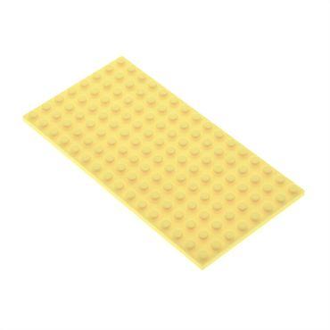 1 x Lego System Bau Platte 8x16 hell gelb Ariel Friends 41052 41347 41035 6054385 92438