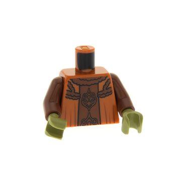 1 x Lego System Figur Torso Oberkörper Star Wars Nute Gunray Torso dunkel orange Robe Neimoidianischer Vizekönig sw0363 Set 9494 4656171 973pb1056c01
