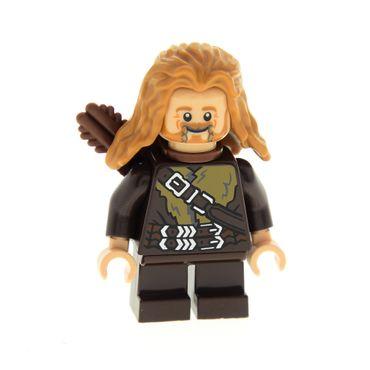 1 x Lego System Figur Fili the Dwarf Zwerg dunkel braun Doppelkopf Haare lang Pfeilköcher Hobbit Herr der Ringe Set 79001 41879 973pb1290c01 4498 lor036