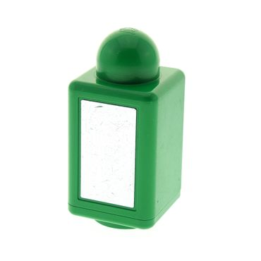 1 x Lego Primo Brick, Rattle 1 x 1 x 2 with Mirror Green for Set 9017 9010 31004pb01