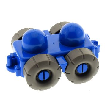 1 x Lego brick Blue Primo Vehicle Wagon with Tow Hitches, Mud Flaps, and Treaded Tires Set 3698 9031 45205