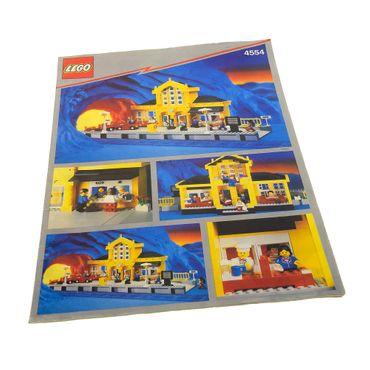1 x Lego System Bauanleitung A4 Metro Station Eisenbahn 4554