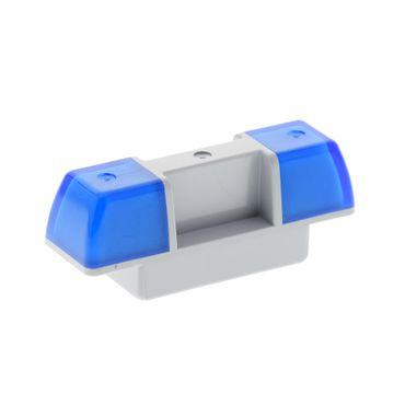1 x Lego brick Duplo Light-Bluish Gray Siren with Trans-Light Blue Lights Set 45021 6138 4565327 2318c01