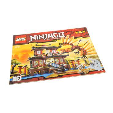 1 x Lego System Bauanleitung A4 Heft 3 Ninjago The Golden Weapons Fire Temple Feuer Tempel 2507