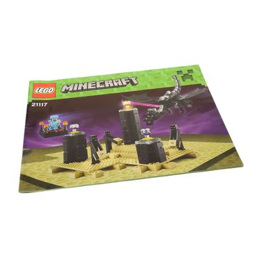 1 x Lego System Bauanleitung A4 Minecraft The Ender Dragon Enderdrachen 21117
