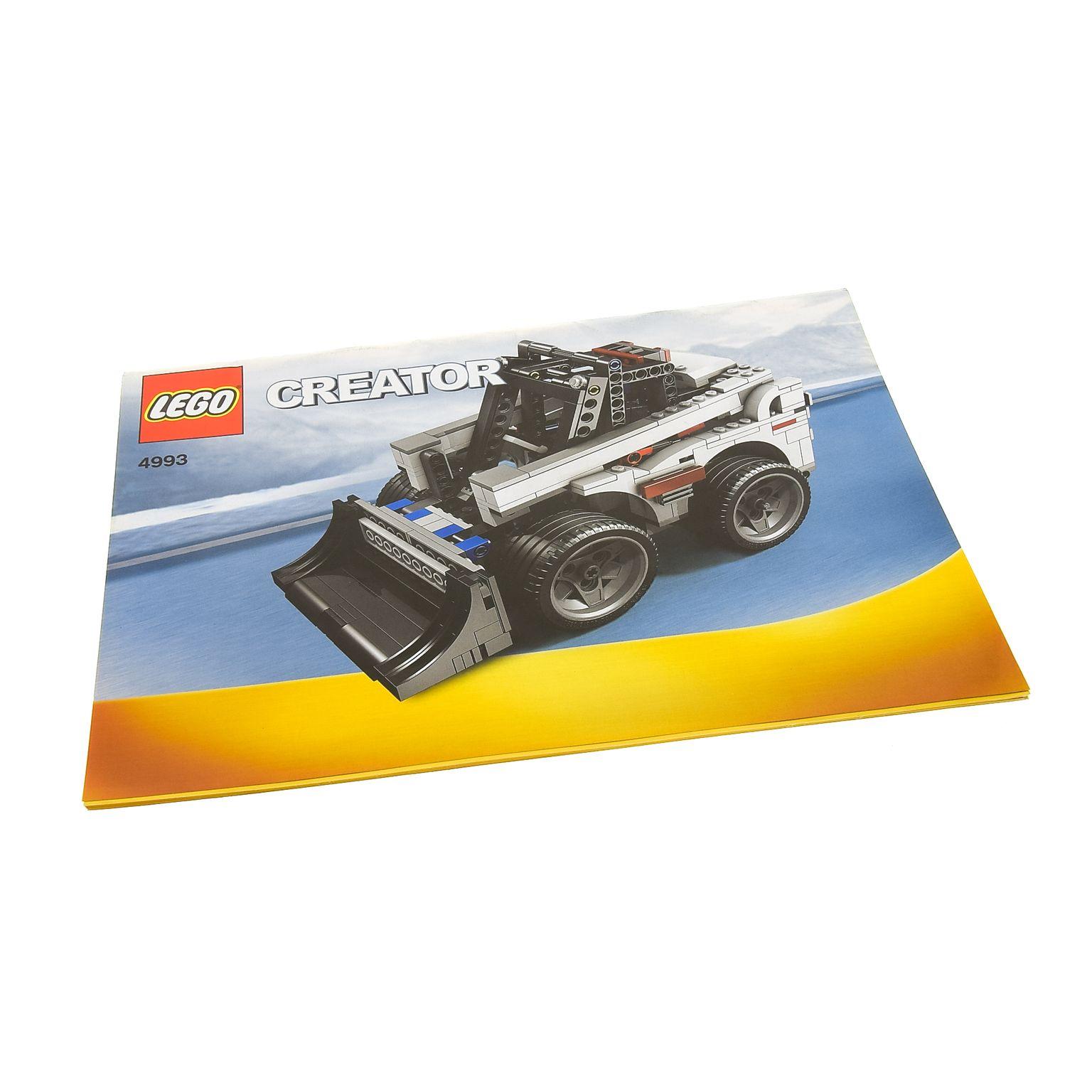 1 X Lego Brick Instructions Creator Model Traffic Cool Convertible