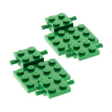 2 x Lego System Fahrgestell grün 4x7x2/3 Auto LKW Unterbau Platte Chassis für Set 10159 6597 2441