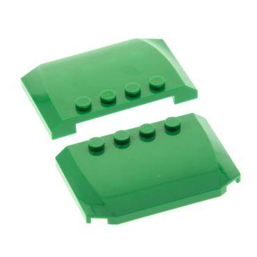 2 x Lego System Motorhaube grün 4x6x2/3 Auto Dach Haube für Set 76013 60059 4503291 52031
