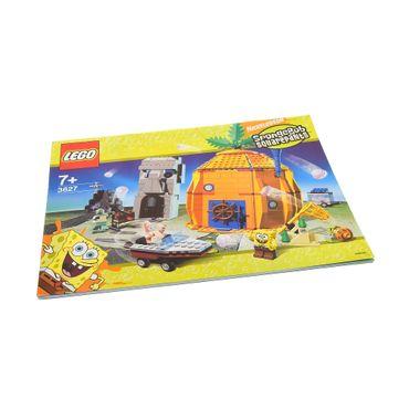 1 x Lego System Bauanleitung A4 Sponge Bob Schwammkopf Abenteuer im Bikini Bottom 3827