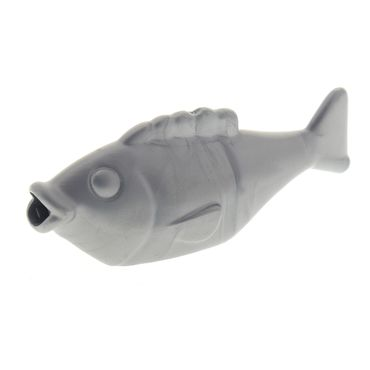 1 x Lego Brick Flat Silver Duplo Fish with Thick Tail and Small Tail Fin Set 10803 10805 45012 6096179 15719