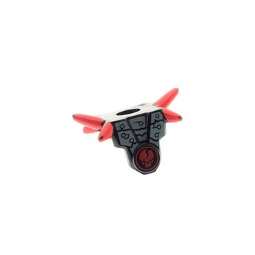 1 x Lego brick  black Minifigure, Armor Breastplate with Shoulder Spikes Red and Ninjago Cracked Red Skull Pattern njo019 njo030  njo011 4613453 93056pb04