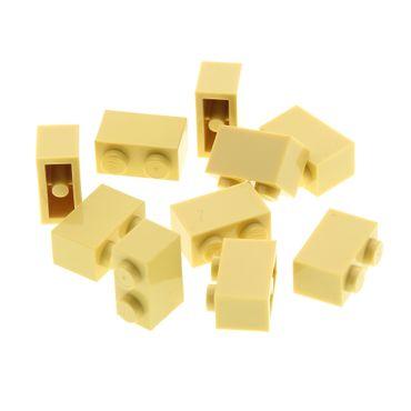 10 x Lego System Basic Bau Stein beige 1x2 für Star Wars Harry Potter Schloss Burg Wand promosw005 41193 10255 75954  75953 7127 6098 7190 4109995 3004
