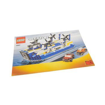 1 x Lego System Bauanleitung A4 Heft 1 Creator Harbor Transport Ferry Hovercraft Fähre 4997