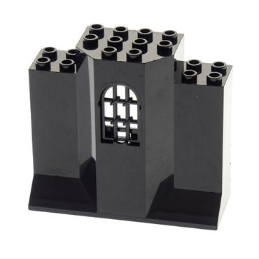 1 x Lego brick Black Panel 3 x 8 x 6 with Black Window 1 x 2 x 2 2/3 Pane Twisted Bar with Rounded Top Set 8877 7785 4261393 48490 30045