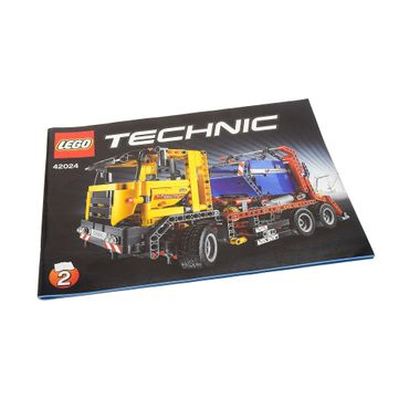 1 x Lego brick Technic Instructions Model Container Truck Booklet 2 42024
