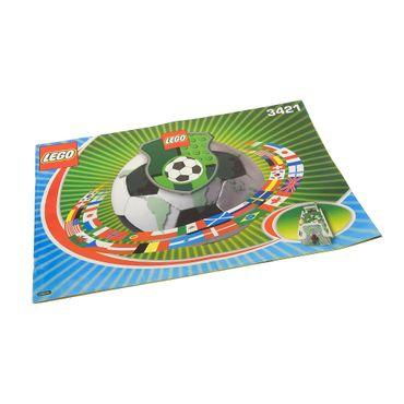 1 x Lego System Bauanleitung A4 Sports Soccer 3 v 3 Shootout Fußball 3421