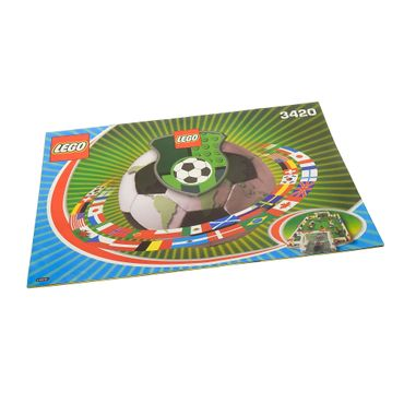 1 x Lego System Bauanleitung A4 Sports Soccer Championship Sports Edition Fußball 3420