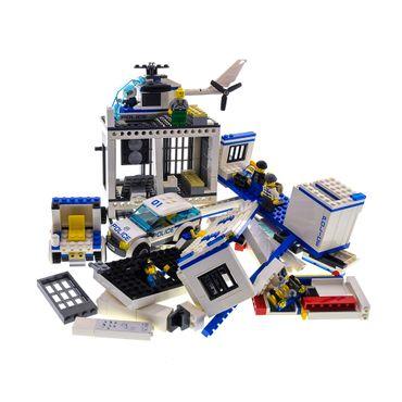 1 x Lego System Teile für Set City Police 60044 Polizei Truck Anhänger 60047 Polizei Station weiss blau 6 Figuren incomplete unvollständig
