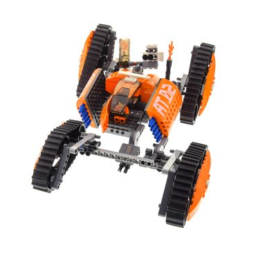 1 x Lego Roboter Set Modell Exo-Force 7706 Mobile Defense Tank Panzer orange 1x Figur incomplete unvollständig
