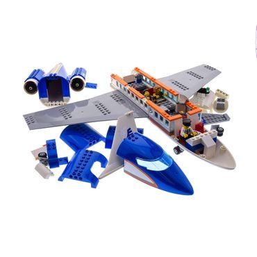 1 x Lego System Set für Modell 60104 Airport Passenger Terminal Flugzeug mit 3 Figuren blau orange incomplete unvollständig