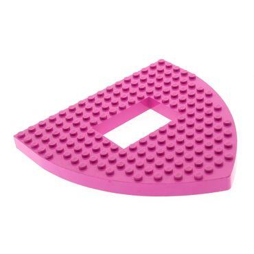 1 x Lego System Boot Rumpf Bug Deck dunkel pink rosa 16x16x1 Bau Platte mit Ausschnitt  Belville für Set 5848 30216