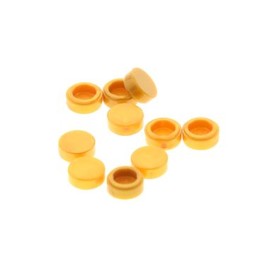 10 x Lego brick Pearl Gold Tile, Round 1 x 1 Castle Set 41058 41134 10257 70708 71040 4649422 35380 35381 98138