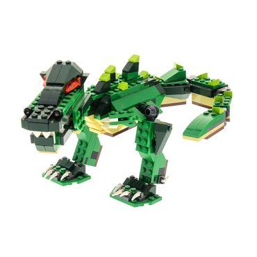 1 x Lego System Creator für Set Modell 5868 Ferocious Creatures Krokodil grün incomplete unvollständig