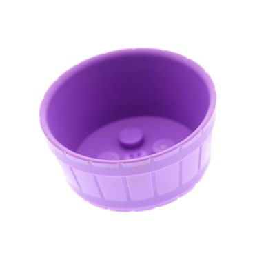 1 x Lego brick Medium Lavender Container Barrel Half Large with Axle Hole Set 41075 41059 41029 4651908 64951