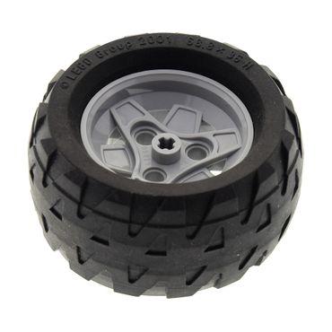 1 x Lego Technic Auto Fahrzeug Rad 68.8x36H Reifen schwarz Felge 3 Pin Löcher 43.2mm D. x 26mm neu-hell grau Technik Set 8416  4211788 41896 4189326 41893