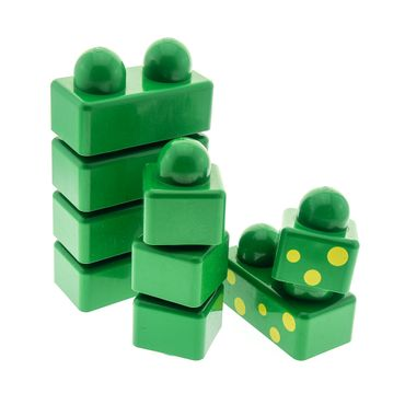 1 x Lego brick scratched green Primo Set brick 31001 31000