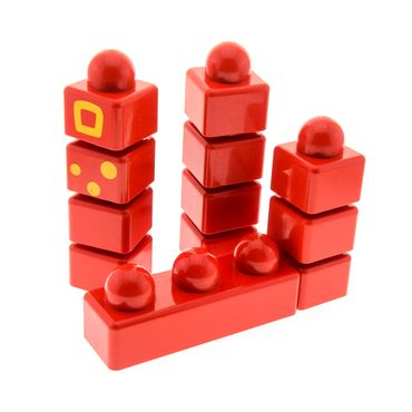 1 x Lego brick scratched red Primo Set brick 31002 31000