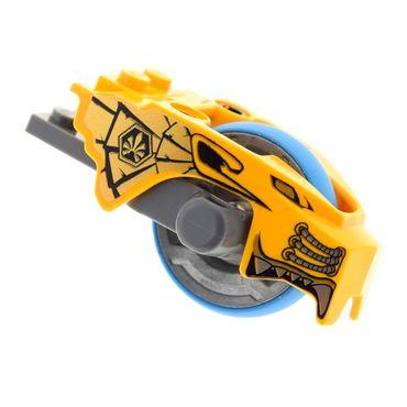 1 x Lego System Schwungrad 2x8 neu-dunkel grau Rad azur Flywheel Löwe hell orange  Reißleinen Antrieb Legends of Chima 70113 6024900  11110pb01 11125c01 11140c01