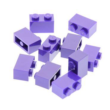 10 x Lego System Basic Bau Stein dunkel lila 1x2 Schloss Burg Wand Harry Potter Set 4866 4755 41101 41312 45020 4224854 93792 3004