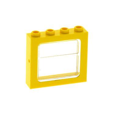 1 x Lego System Fenster Rahmen gelb transparent weiß 1x4x3 Zug Eisenbahn Haus Waggon Set 7740 4866 403440 4034 4033