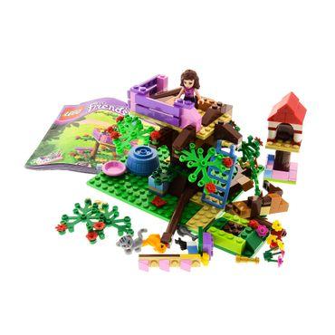 1 x Lego System Teile Set Modell für 3065 Friends Olivia's Tree House Baumhaus grün rosa mit Bauanleitung unvollständig