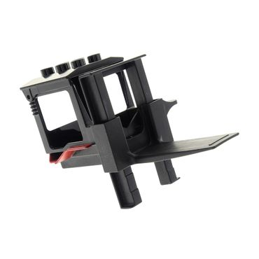 1 x Lego brick black Duplo Forklift Cabin with Dark Red Mudguards and Forklift Rails (Sumsy) / black Duplo Forklift Plate 3298 4165974 42405 4298163 54006c01