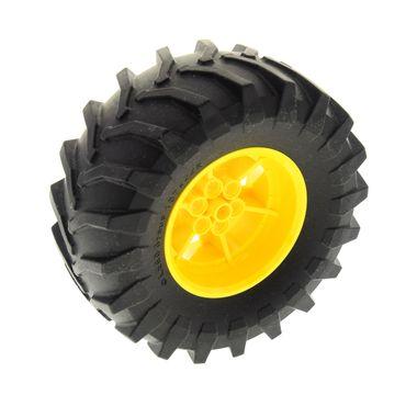 1 x Lego Technic Rad Reifen schwarz 107 x 44R Racing Felge gelb 56mm D. x 34mm Technik Auto Fahrzeug für 42081 42070  6065490 15038 6141782 23798 15038c05