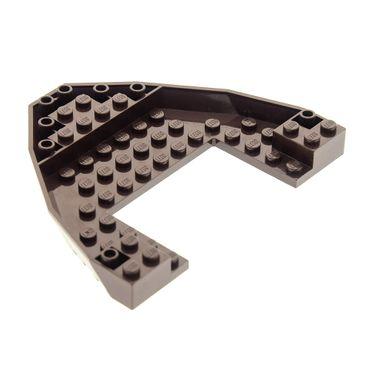 1 x Lego System Boot Rumpf Bug Deck Platte dunkel braun 10x12x1 Piraten Schiff Ninjago 70732 70618 6109320 47404