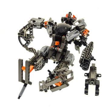 1 x Lego Bionicle Set Modell Technic Titans 8557 Exo-Toa Figur silber schwarz incomplete unvollständig