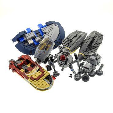 1 x Lego System Teile Set für Star Wars Modelle Raumschiff Cockpit Raumsonden grau braun beige für 8095 9494 8018 unvollständig