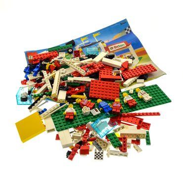 1 x Lego System Teile Set für Modell 6337 City Town Race Fast Track Finish weiß rot unvollständig
