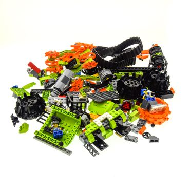 1 x Lego System Teile Set für Modell Power Miners 8960 Thunder Driller 8956 Stone Chopper hell grün orange incomplete unvollständig