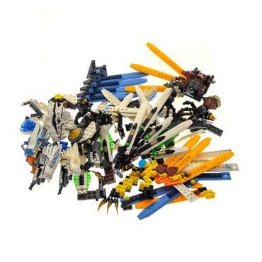 1 x Lego System Teile Set für Modell Ninjago 9450 Rise of the Snakes Epischer Drachenkampf 2260 The Golden Weapons Eisdrachen Attacke weiß incomplete unvollständig
