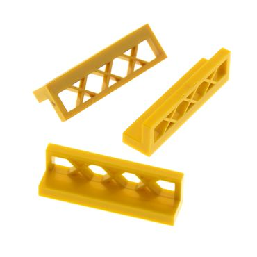 3 x Lego bricks Flat Dark Gold Fence 1 x 4 x 1 3633